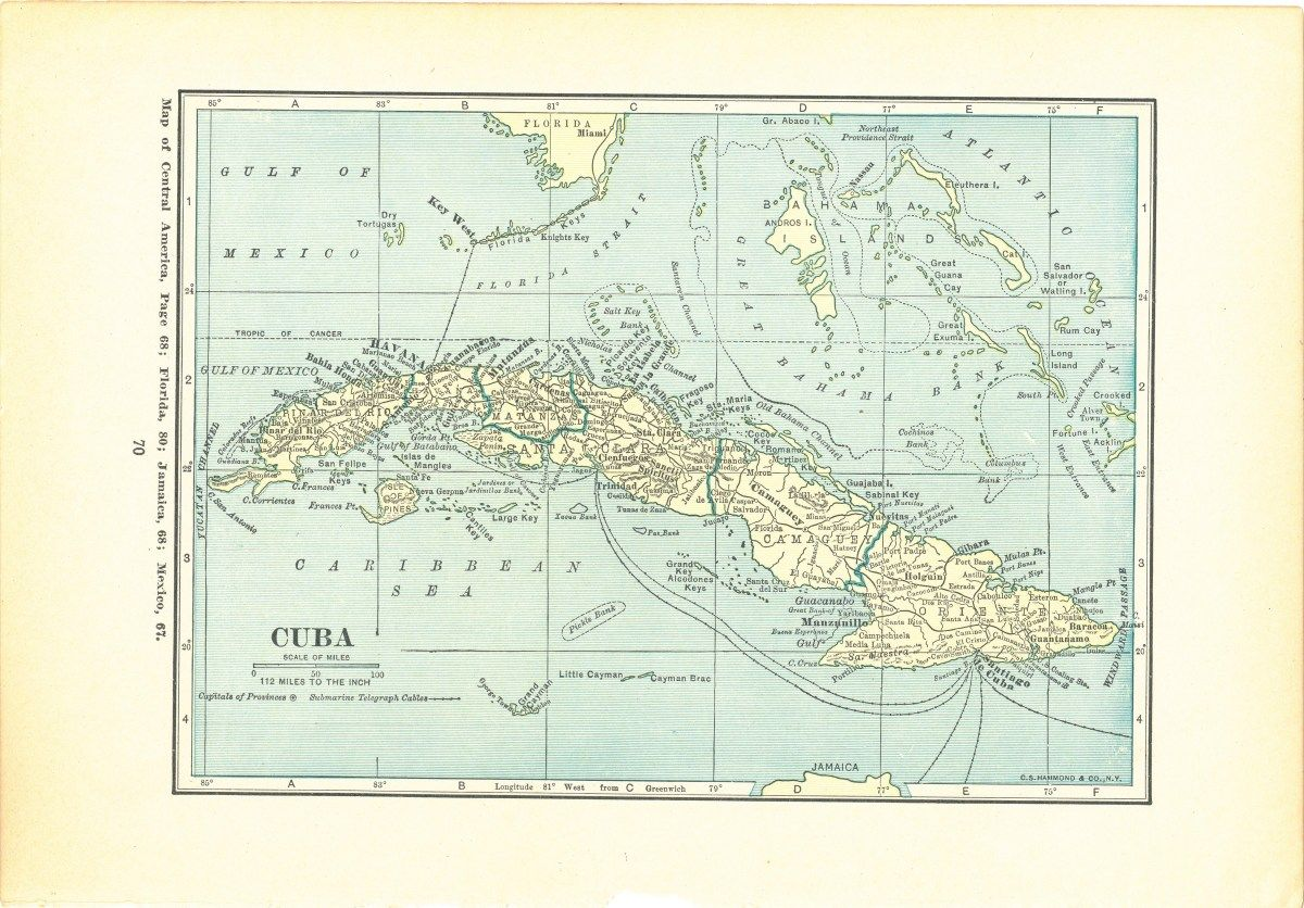 1923 Atlas of the World Vintage Map Pages - Cuba Map on one ...