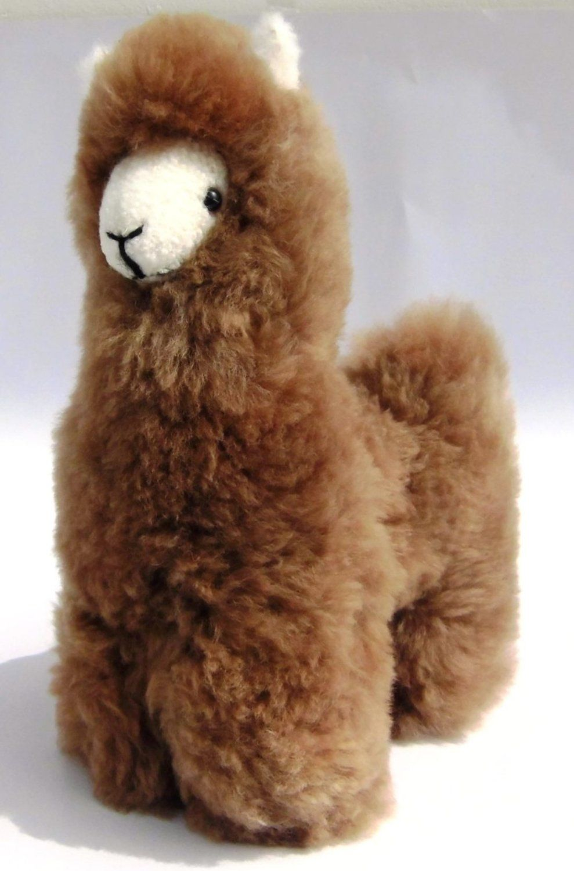 Lama Figur #Kuscheltier Alpakapelz 30 cm Handgemacht in #Peru ...