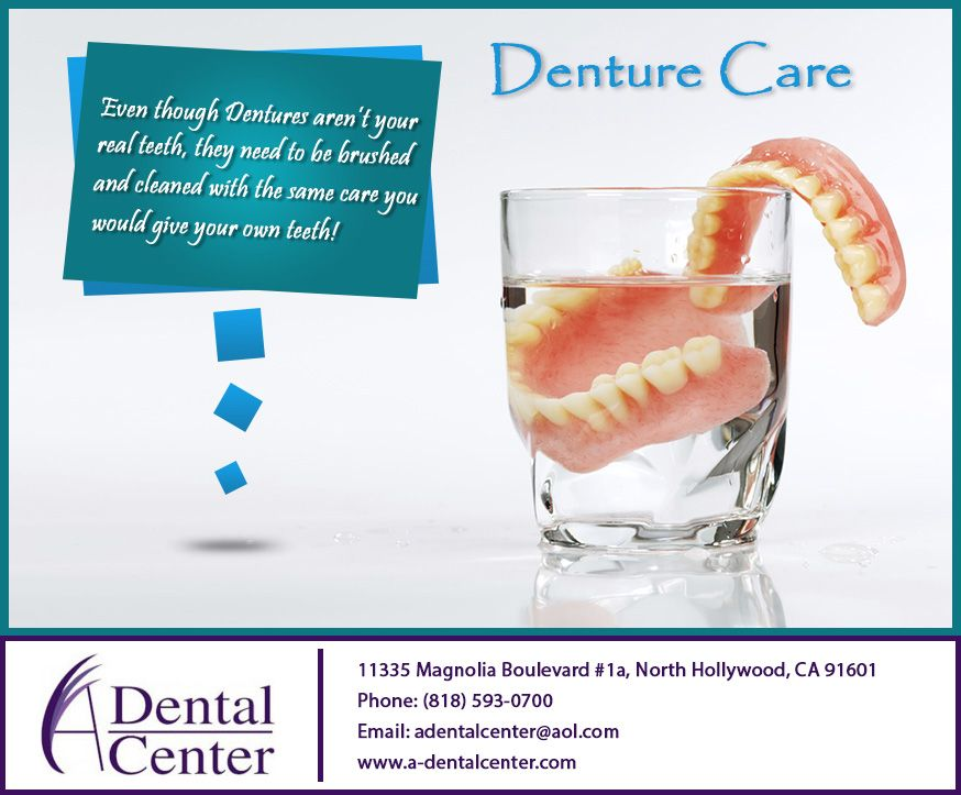 Denture care with images dental cosmetics dentistry