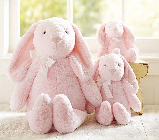 Pink Bunny Plush Collection Pottery Barn Kids