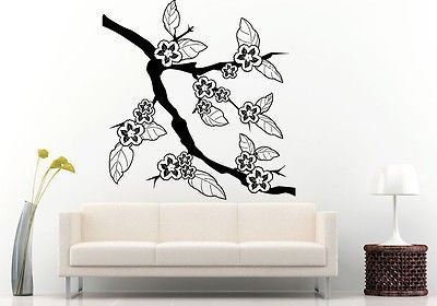 Wall or Car Decal Vinyl Sticker Japan Sakura Tree Branch Flowers Nature L1129