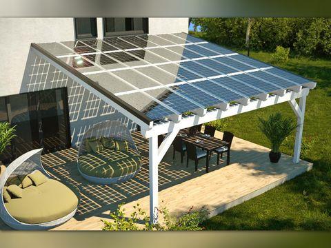 Solar Heisse Uberdachung Holzbauweise Sonnenkollektor