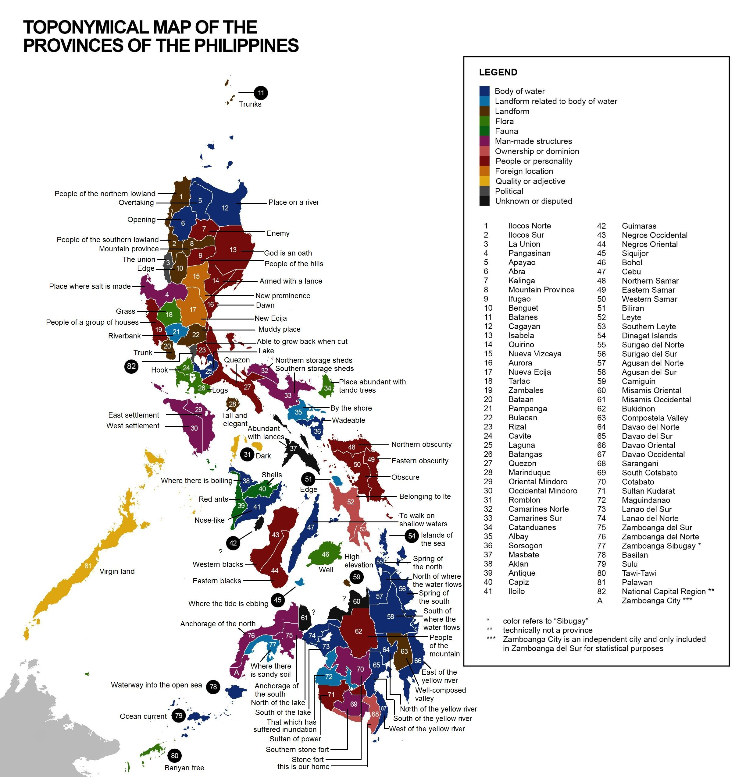 Etymology of Philippine provinces names  Maps of the Philippines