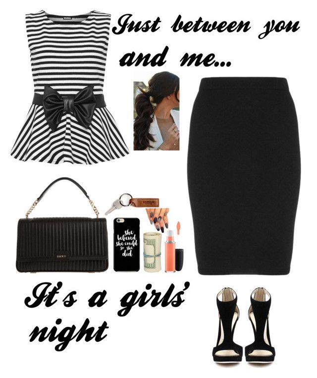 """""""Girls' Night"""" by majerimia ❤ liked on Polyvore featuring WearAll, Manon Baptiste, DKNY and MAC Cosmetics"""
