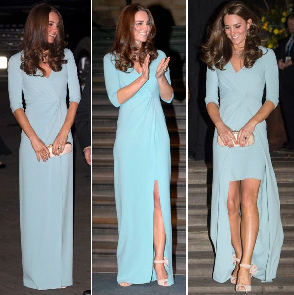 Vestidos Longos De Kate Middleton Wrap Dress Mullet Azul