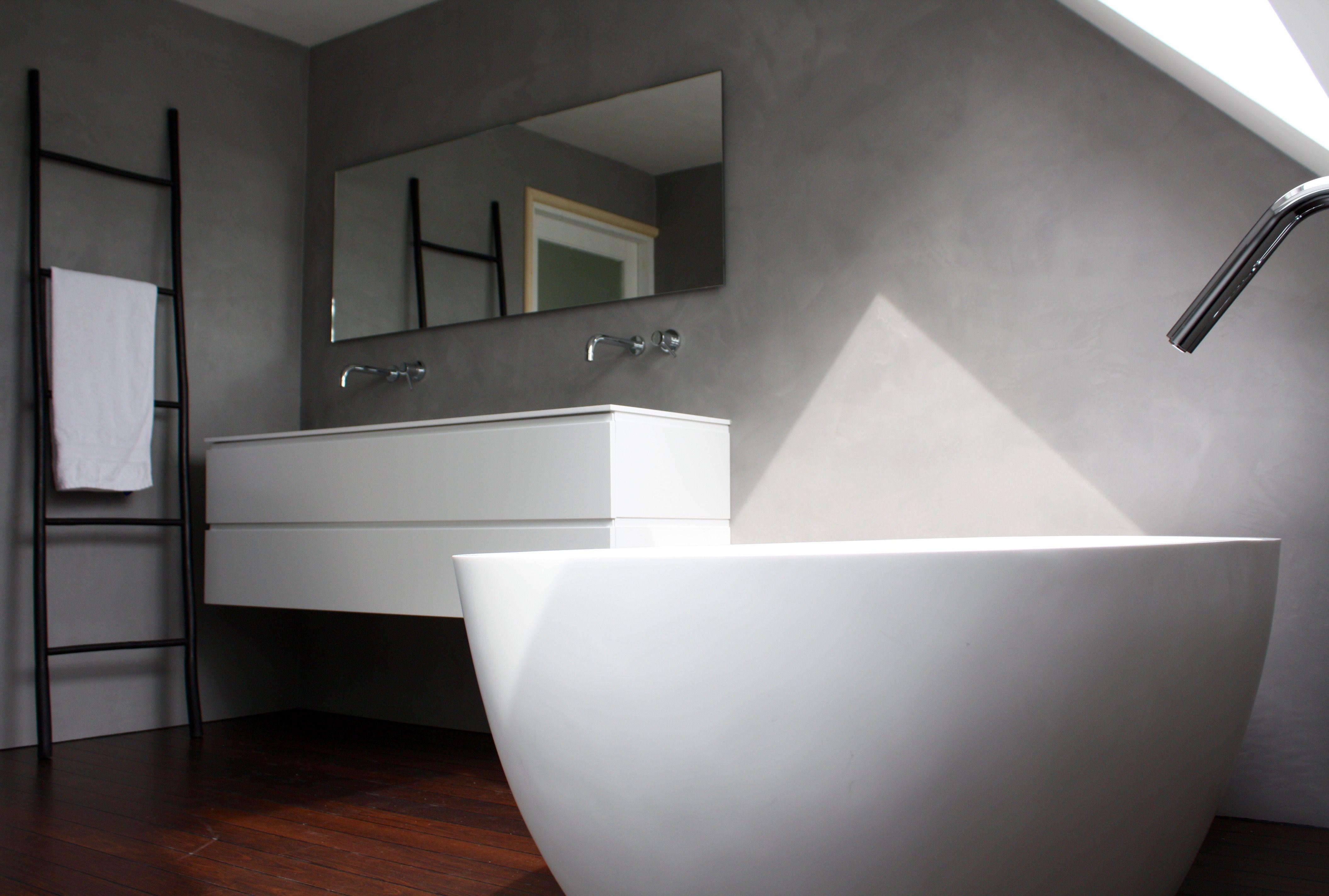 Afbeeldingsresultaat voor beton cire badkamer wit | badkamer ...