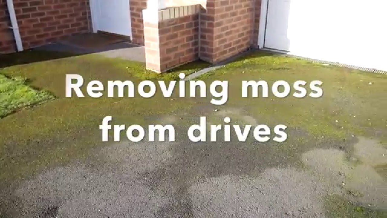 How To Remove Moss On Drives And Patios With Natural Products And Minima Moss Removal Moss Garden Paving