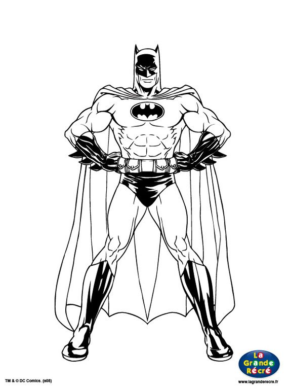 Coloriage batman 573 767 superheroes - Batman a imprimer ...