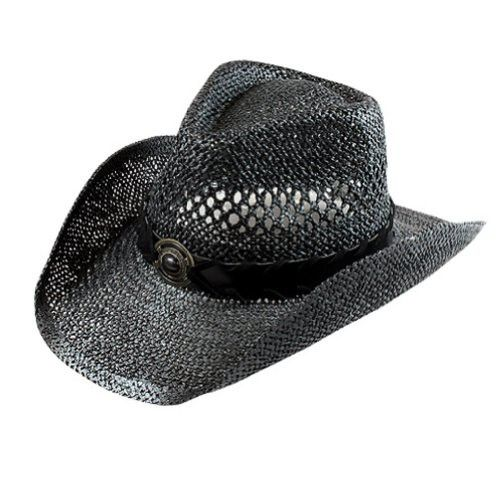 3cf2ca411f5 Black Western Unisex Cowboy Toyo Hat with Black Hat Band And Stone ...