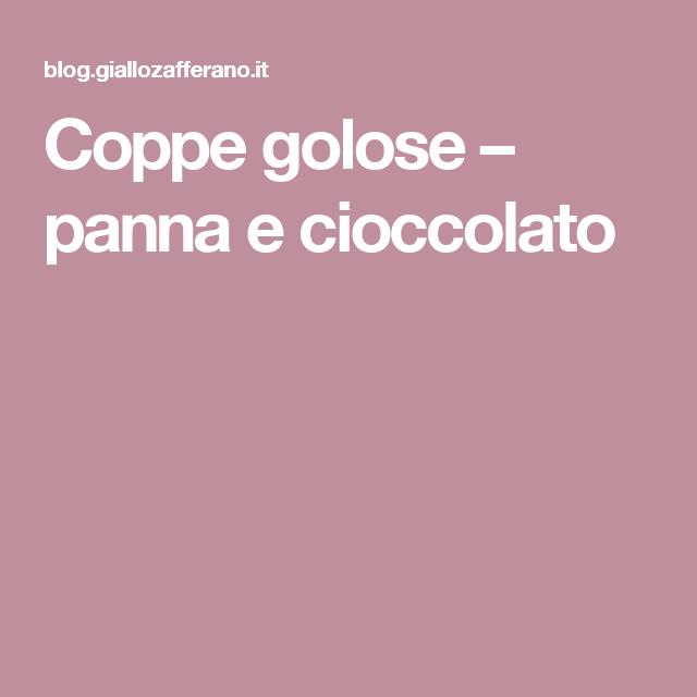 Coppe golose – panna e cioccolato