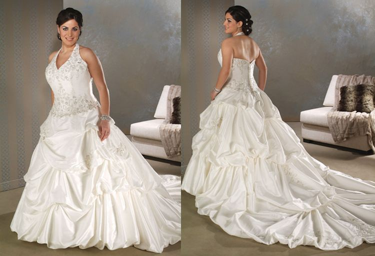 plus size halter top wedding dresses - Google Search ...