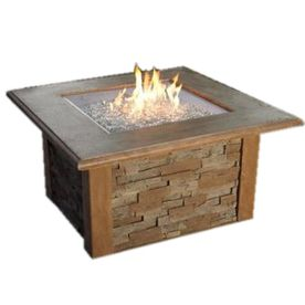 Outdoor Greatroom Company Sierra W Mocha Faux Stone Propane Gas Fire Table  At Loweu0027s. Create The Perfect Summer Night For Outdoor Parties Or Barbecues  With ...