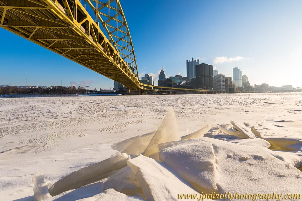 """A cold one in #Pittsburgh today. Far in the negatives, but worth it for the shot! #Frozen #LovePGH"" Credit: JPDPhotos"