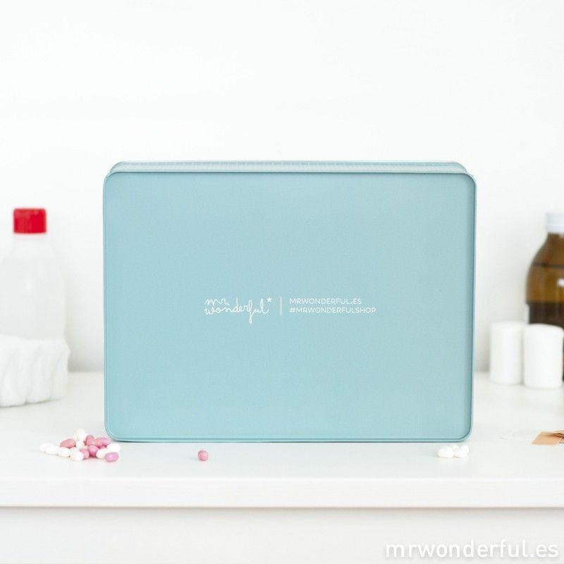 Caja metálica wonder - El tiempo lo cura todo #mrwonderful #blue