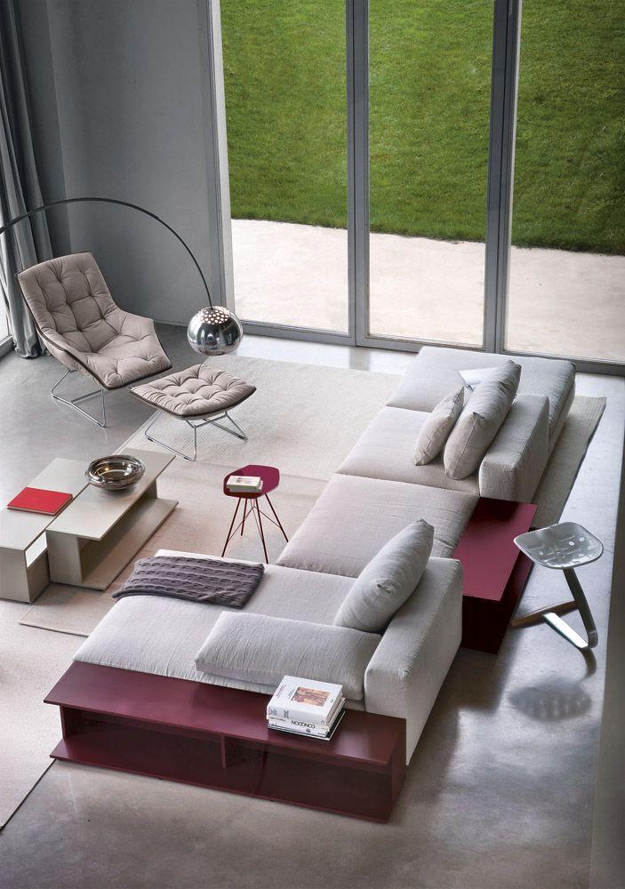 Zanotta ecksofas sofakombination scott designbest - Innenausstattung wohnzimmer ...