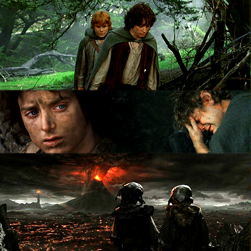 the lord of the rings the return of the king frodo and