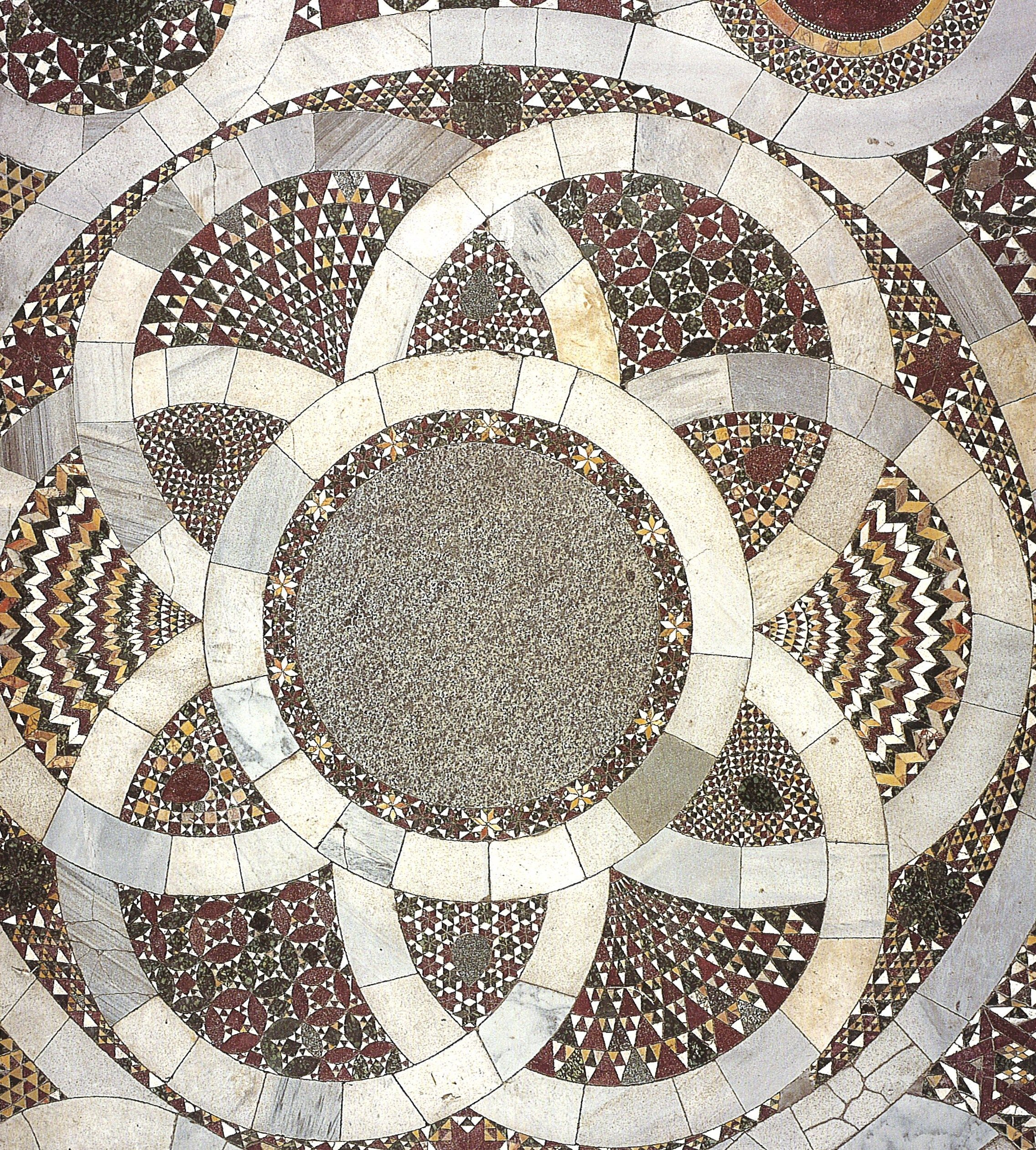 The Intricate Detail Of Italian Romanesque Mosaic Work