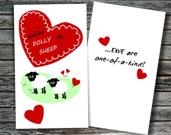 Mini Science Valentines Day Cards Set of 12 – Chemistry Valentines Day Card