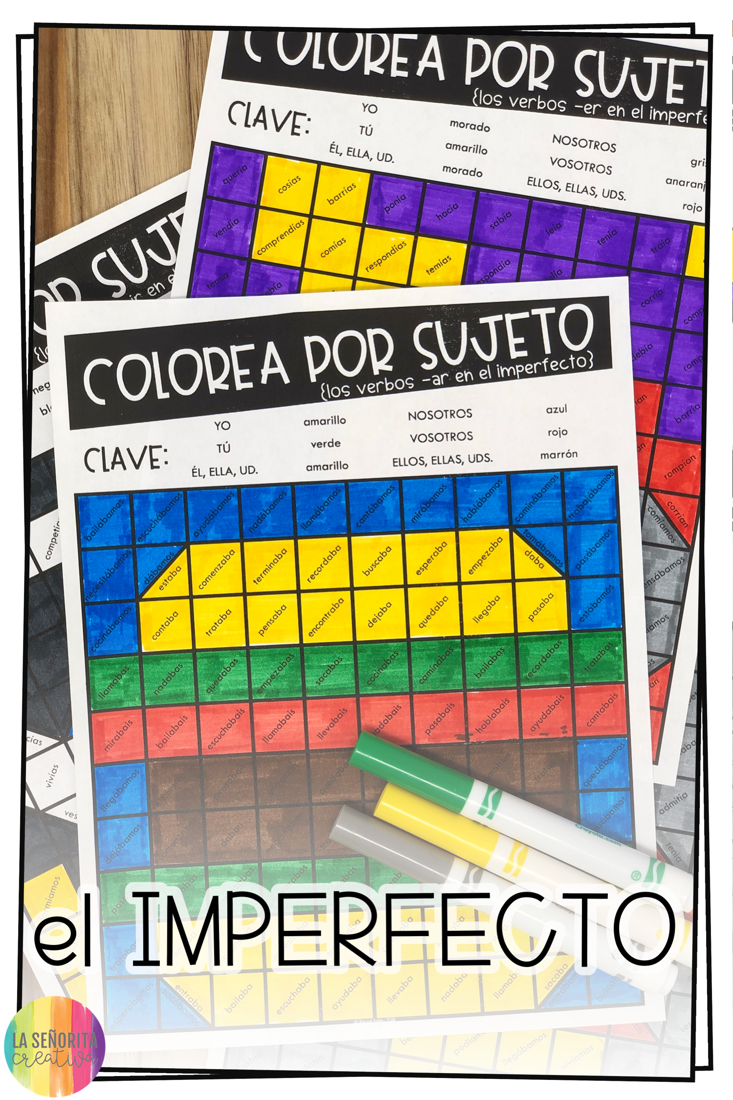 Imperfect Tense Worksheets
