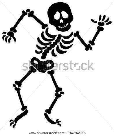 Dancing Skeleton Silhouette Vector Illustration Halloween Skeleton Silhouette Halloween Silhouettes Silhouette Vector