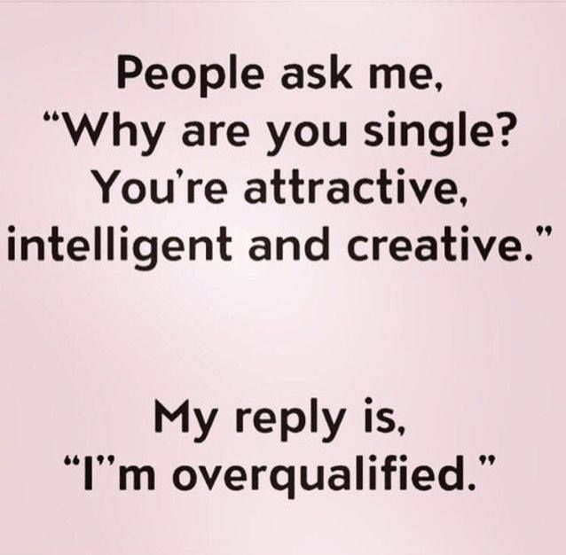 Im Overqualified Single Life Quotes Funny Quotes Funny