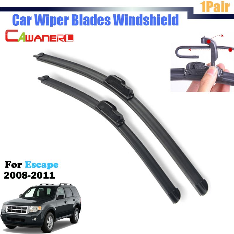 Cawanerl Bracketless Car Front Window Windshield Soft Rubber Wiper Blades 1 Pair For 2008 2011 Ford Escape Wiper Blades Car Wiper Windscreen Wipers