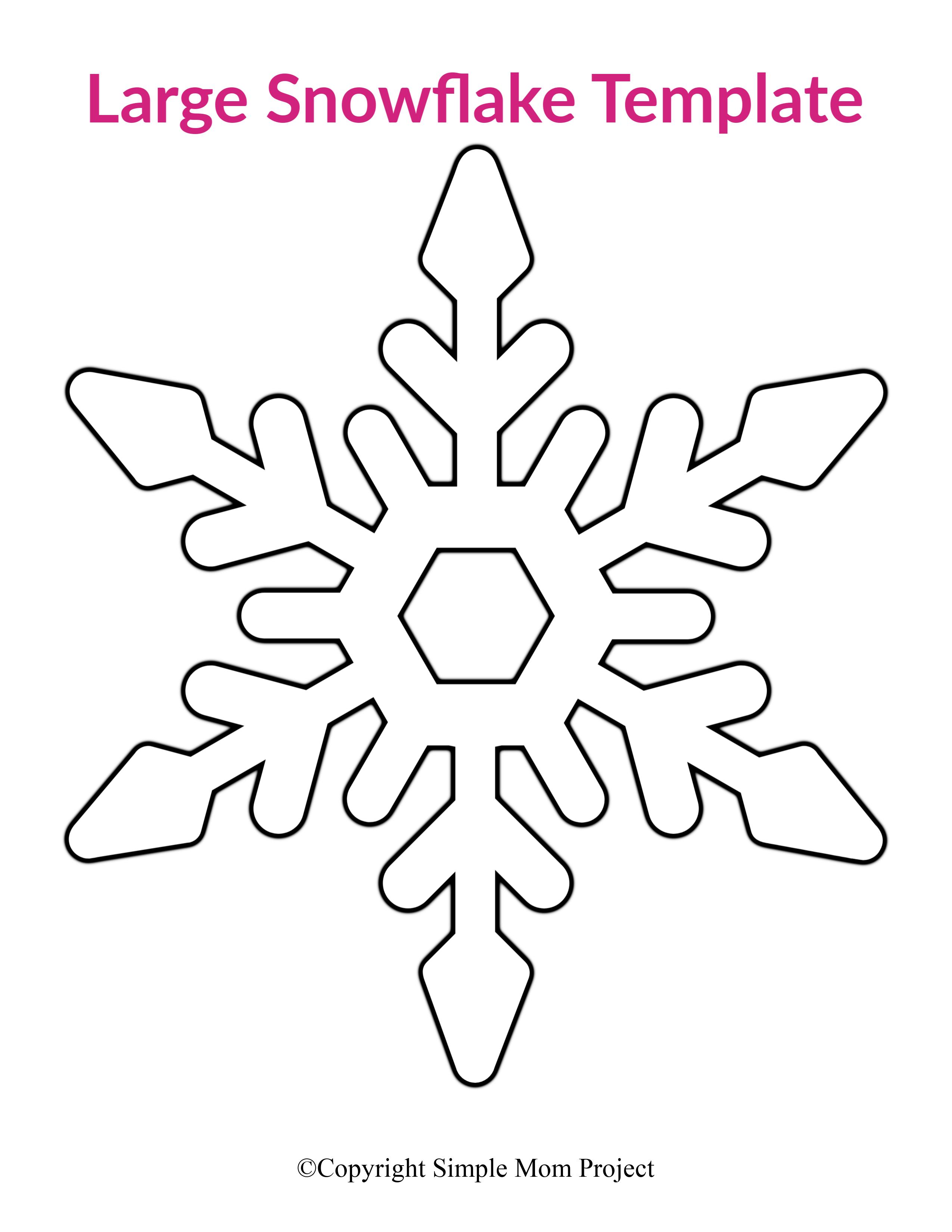 8 Free Printable Large Snowflake Templates