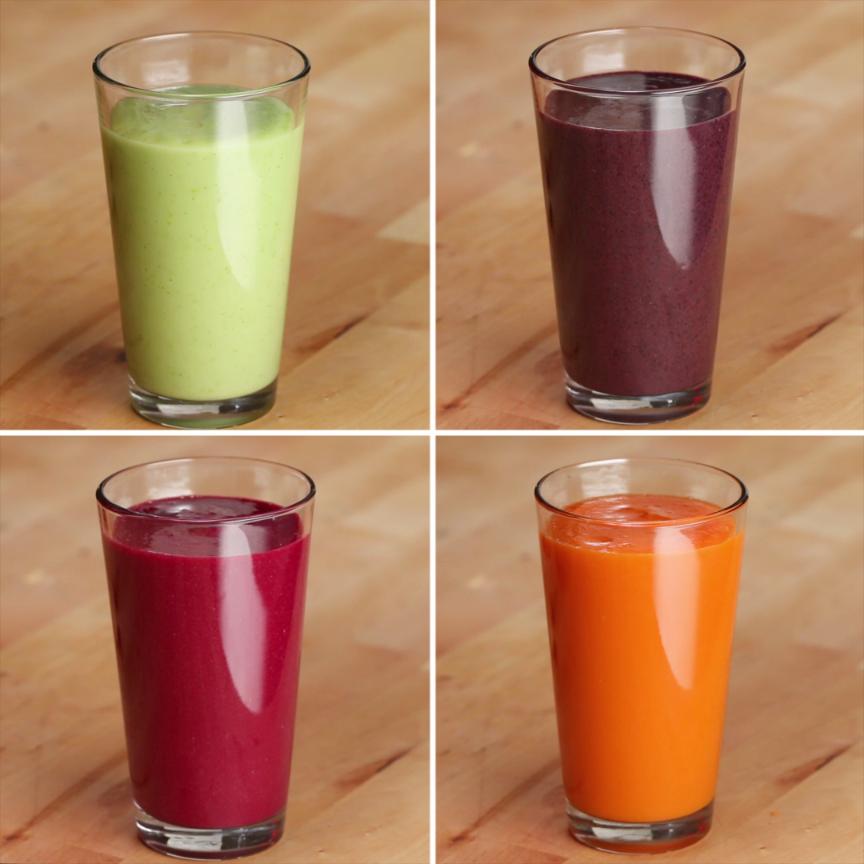 Photo of Freezer Prep Veggie Packed Smoothies 4 Ways