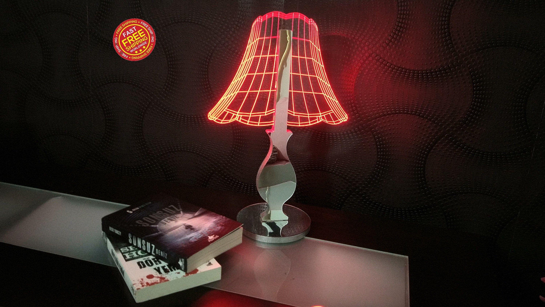 3d Led Lamp Light Panosundaki Pin
