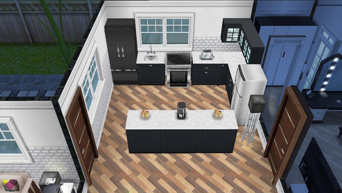 House 1 Modern And Minimalist Kitchen Sims Freeplay Simsfreeplay Simsfreeplayhouse Sims House Sims House Plans Sims Freeplay Houses