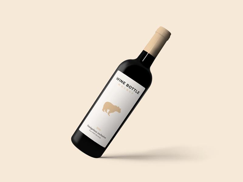 Free Wine Bottle Mockup Psd Wine Bottle Elegant Wine Bottle Wine Bottle Logo