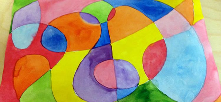 Con Este Tutorial De Dibujos Aprenderas A Hacer Un Dibujo Abstracto Lleno De Color Utilizando Una T Obras De Arte Abstracto Arte Abstracto Arte Abstracto Facil