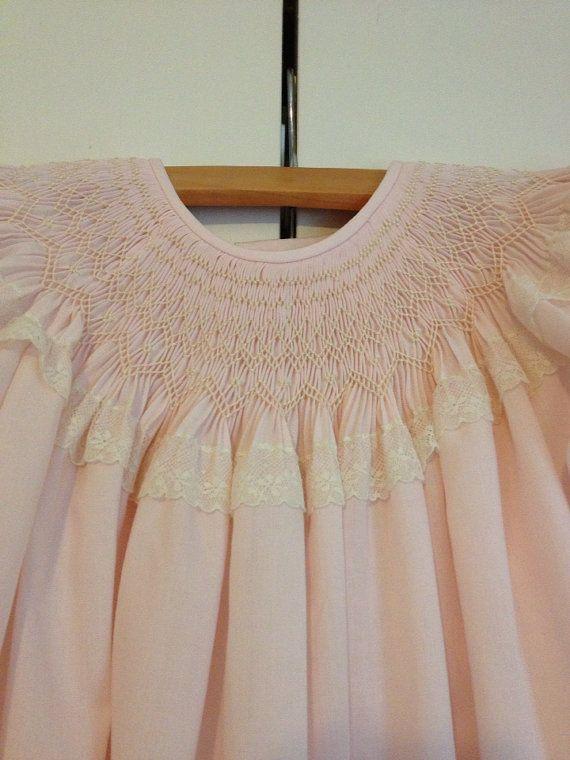 Toddler+Girl+Smocked+Bishop+Dress+Size+3+by+SeamsbyLeslie+on+Etsy,+$126.00