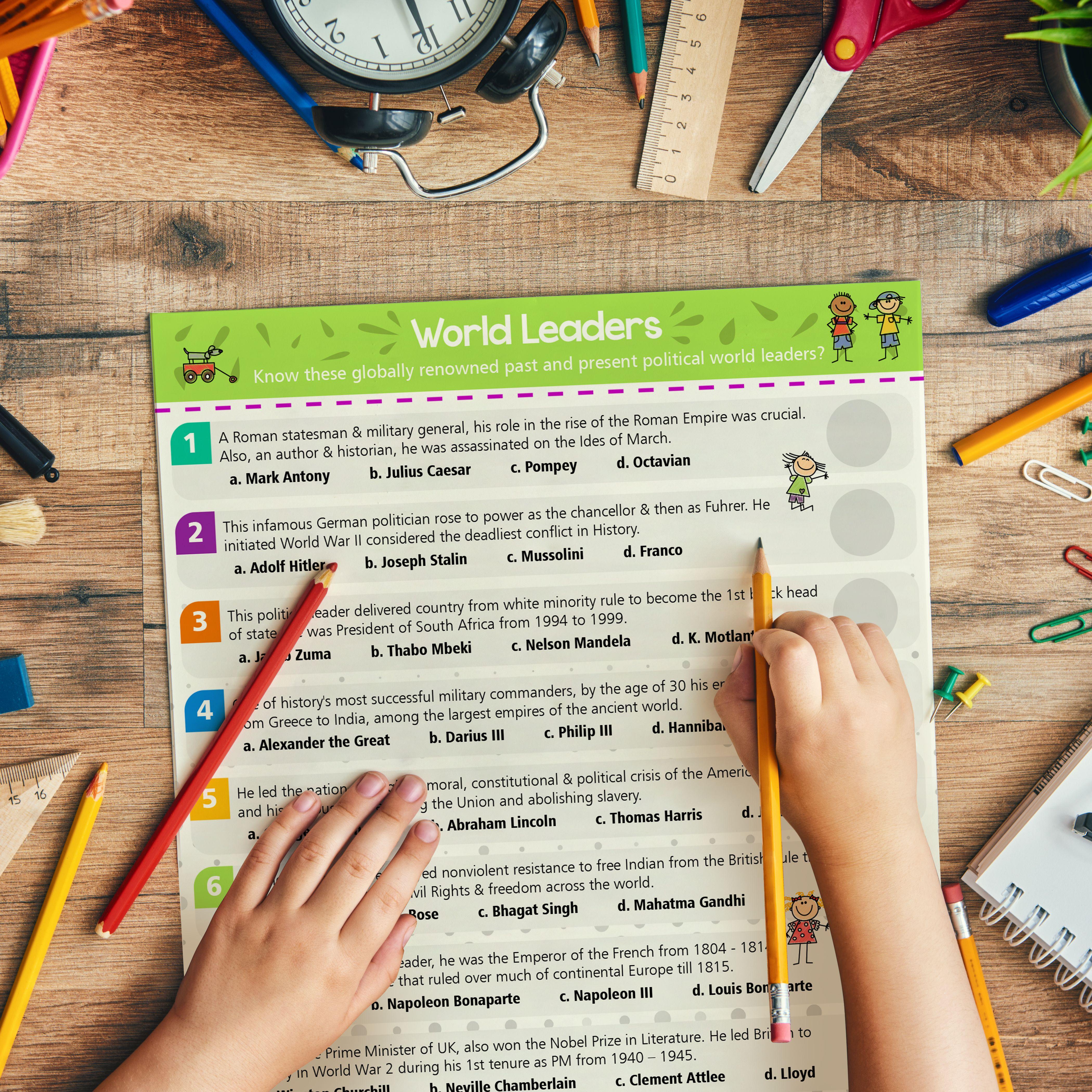 World History Homeschool Worksheets For Kids Set Of 5