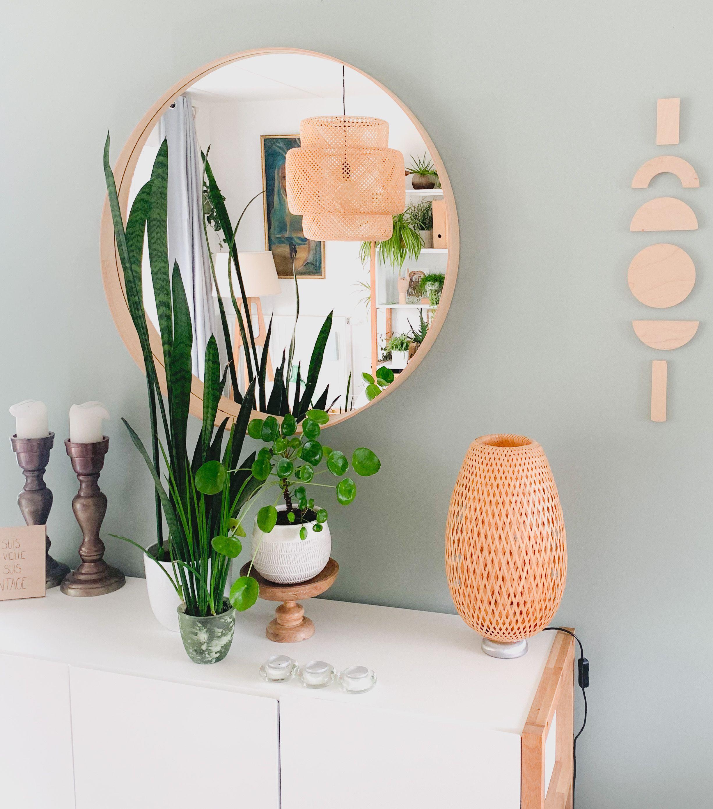 #decoration #wood #mirrordecor #plantesvertes #scandinaviandesign #slow #inspiration