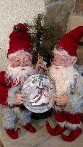 NWT-6-MERRY-CHRISTMAS-Joy-SNOW-Ice-Skates-Vintage-Post-Card-Scene-Disk-Ornament