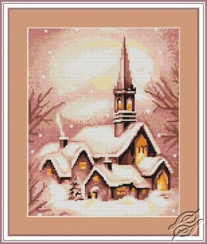Snowy Church - Cross Stitch Kits by Luca-S - B401