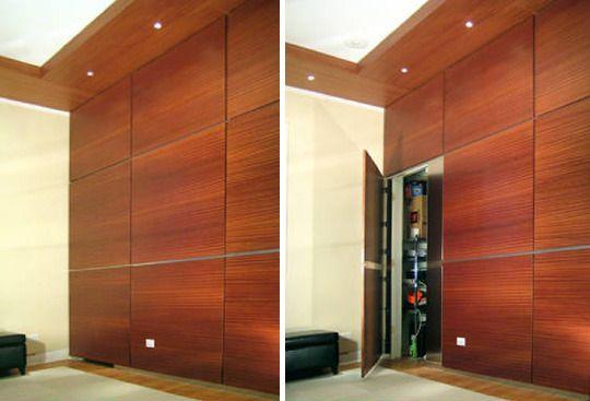 Secret Spaces Hidden Doors In Paneled Walls Hidden Door Hidden Door Hinges Wall Paneling