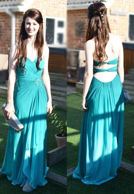 Classy Pretty Prom Dresses,A-Line Prom Dresses,Strapless Prom Dresses,Chiffon Prom Dresses,Long Prom Dresses