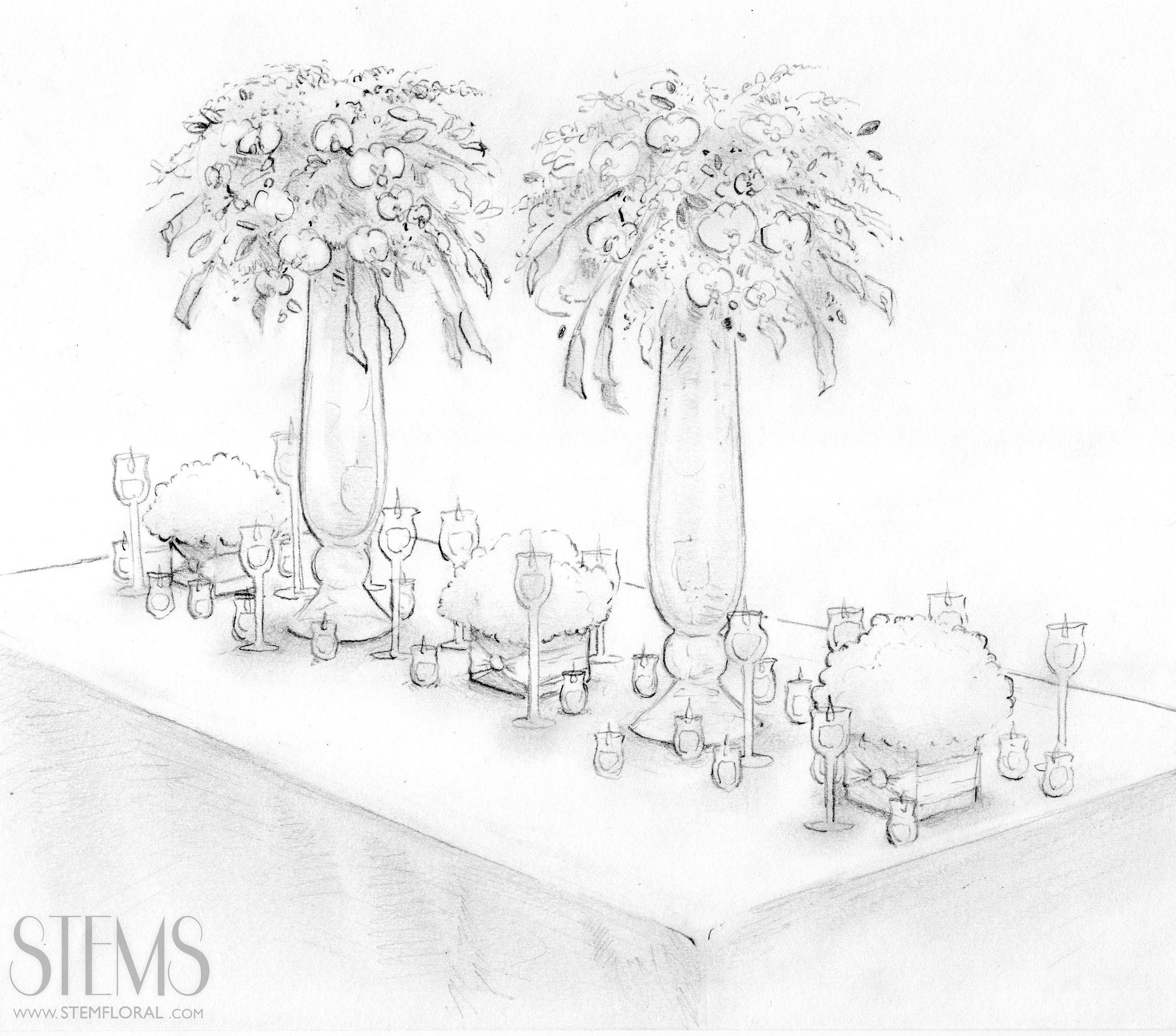 Drawing Wedding Altar: Lovely Sketches By @STEMFloral