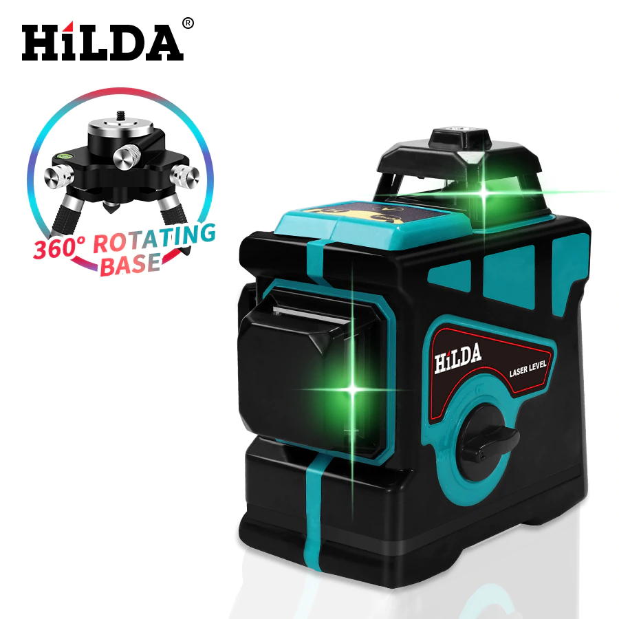 Hilda Laser Level 12 Lines 3d Level Self Leveling 360 Horizontal And Vertical Cross Super Powerful Green Laser Level In Laser Levels From Tools On A Laser Ligne