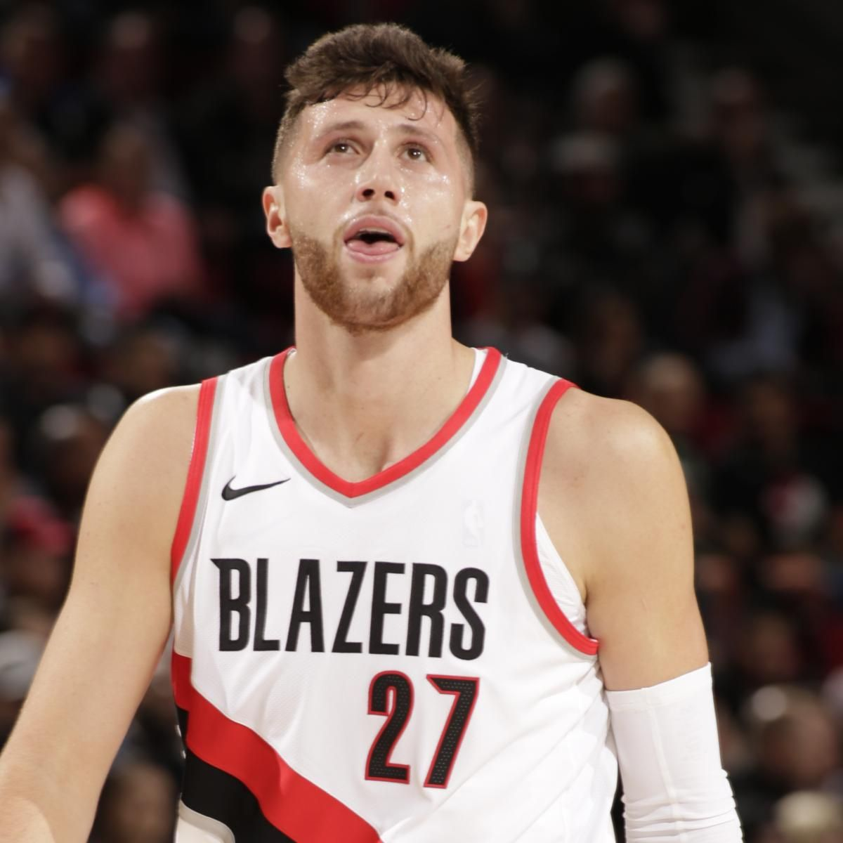 Jusuf Nurkic Injures Ankle Vs Wizards X Rays Come Back Negative Ankle Injury Portland Trailblazers Trailblazer