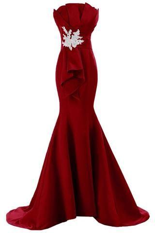 Burgundy Prom Dressesprom Dressburgundy Prom Gownburgundy Prom