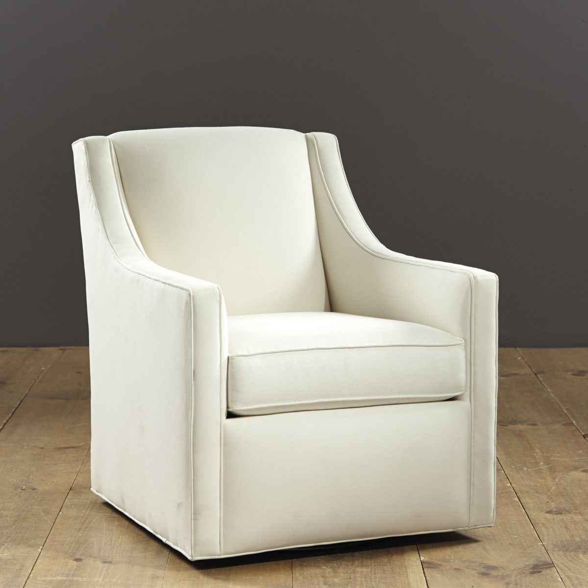 Carlyle Swivel Chair Ballard Custom Fabric 680