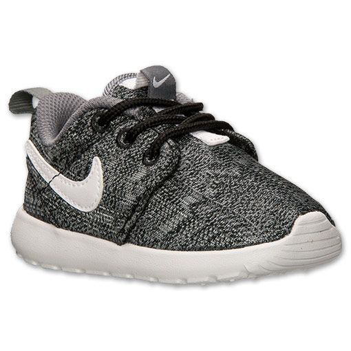 Unisex Nike Roshe Run Leather Black Black Toddler