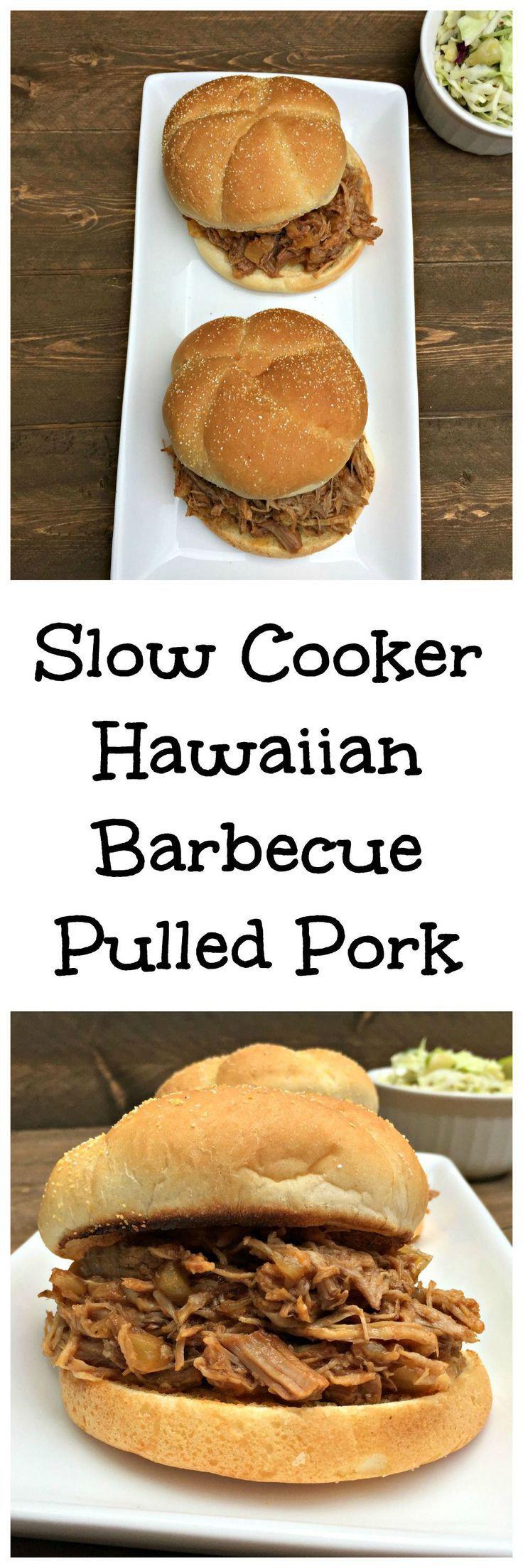 Hawaiian Pulled Pork Recipe: Hawaiian Barbecue Pulled Pork Slow Cooker