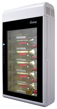 Vinotemp 6 Bottle Wall Mounted Wine Cooler Modern And Beer Refrigeration