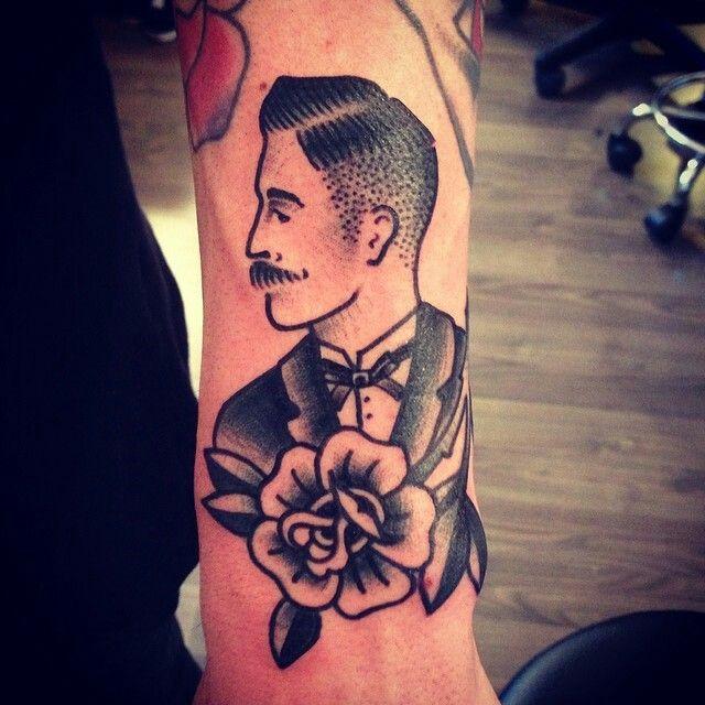 Gesicht Traditional Tattoo Gentleman Tattoo Traditional Tattoo Art