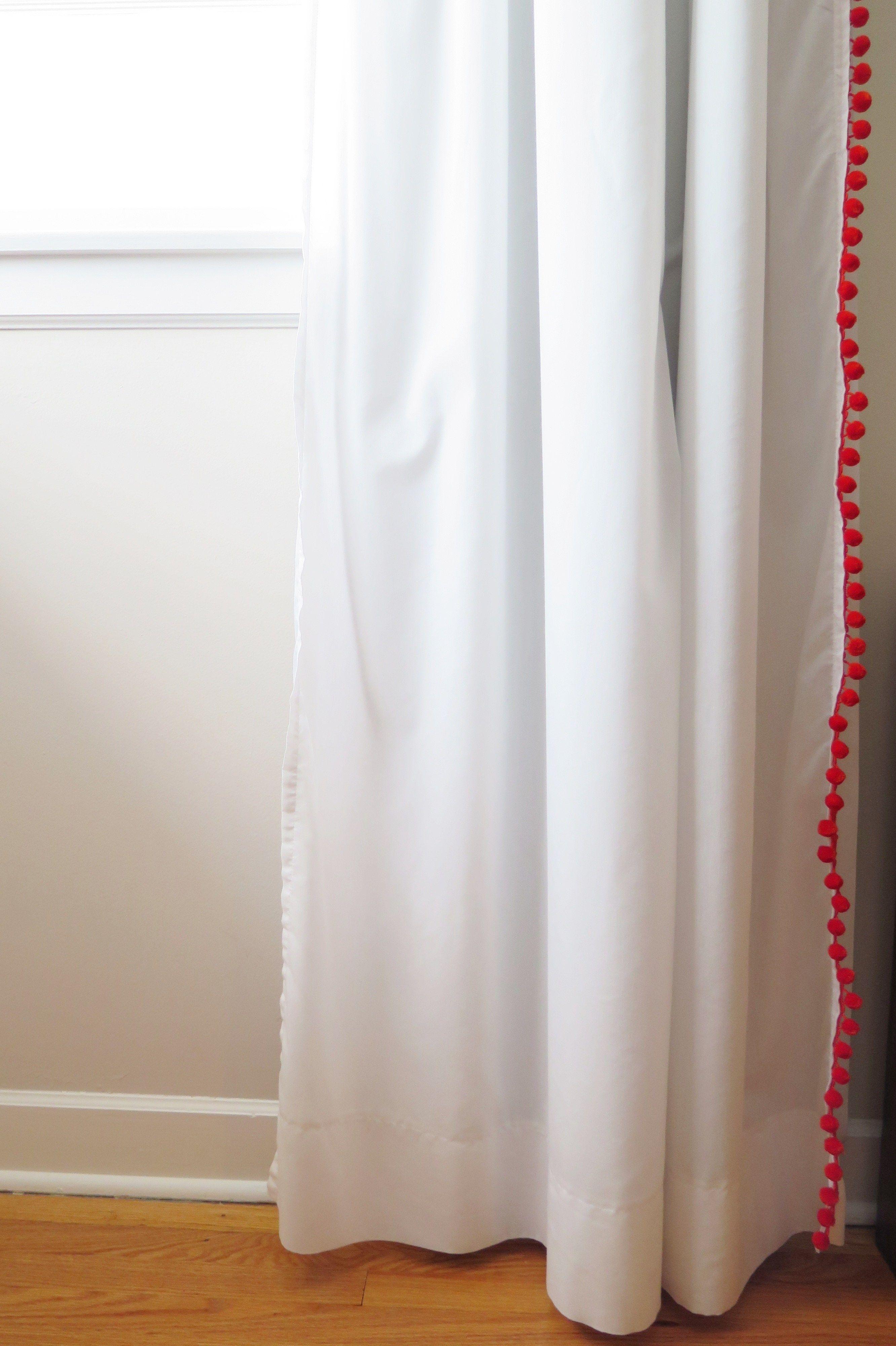 Diy Blackout Pom Pom Curtains Pom Pom Curtains Curtains Sheer Drapes