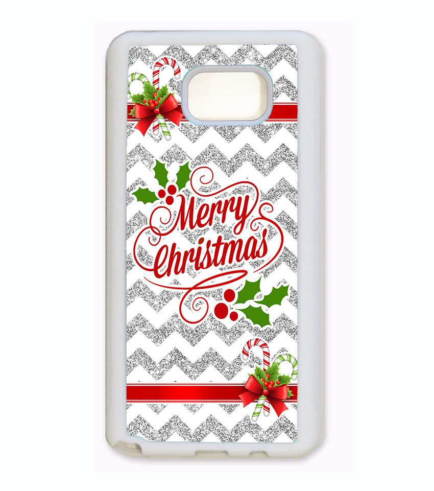 merry christmas phone case for samsung galaxy s6 edge s5 note 5 4 silver chevron